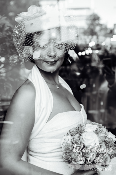 Bride Portrait Black and white